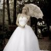 Bridal fashion shoot at Ainsworth House wedding venue in Oregon City. Lace umbrella. strapless gown.